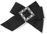 Dolce & Gabbana Swarovski Crystal-embellished Grosgrain Hair Clip - Black