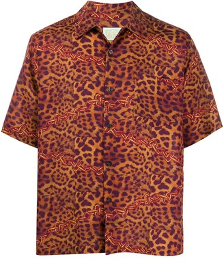 Aries Leopard-Print Hawaiian Shirt