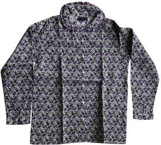 Oscar de la Renta Purple Cotton Tops