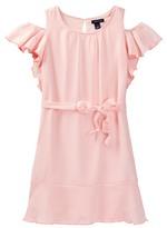 Tommy Hilfiger Ruffle Cold Shoulder Dress (Big Girls)