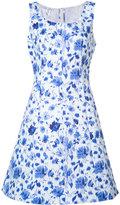 Oscar de la Renta Ärmelloses A-Linien-Kleid mit Rundhalsausschnitt