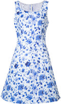 Oscar de la Renta sleeveless scoop neck A-line dress