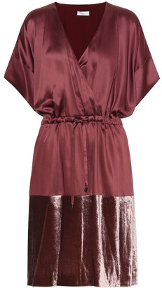 Brunello Cucinelli Satin and velvet dress