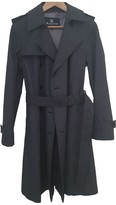 Aquascutum London Navy Cotton Trench Coat for Women