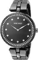 Nine West Women's NW/1741GMGN Swarovski Crystal Accented Bracelet Watch