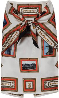 Burberry Scarf Print Skirt