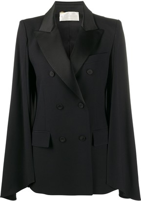 Alberta Ferretti Double Breasted Cape Jacket