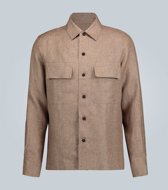 Ermenegildo Zegna Long-sleeved linen shirt