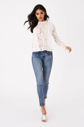 Girls On Film Merci White Lace Top