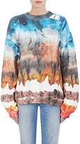 Acne Studios Women's Tie-Dyed Cotton Fleece Sweatshirt-RED