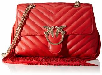 Pinko Love Puff Fringes Cl Nappa+sca Womens Cross-Body Bag
