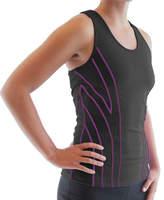 Ryka Women's Hypnotic Tank - Black/Sugar Plum Athletic Clothing