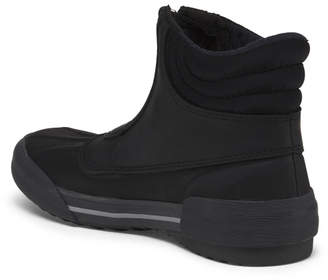 Front Zip Leather And Rubber Cold Weather Booties