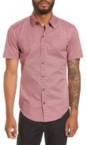 BOSS Men's Robb Sharp Fit Print Sport Shirt