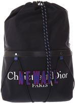 Christian Dior Newave Nylon & Leather Backpack