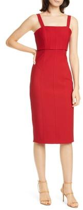 Cinq à Sept Dakota Back Cutout Body-Con Midi Dress
