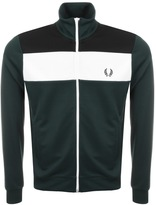 Fred Perry Laurel Colour Block Track Top Green