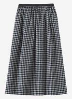 Toast Seersucker Check Wool Skirt