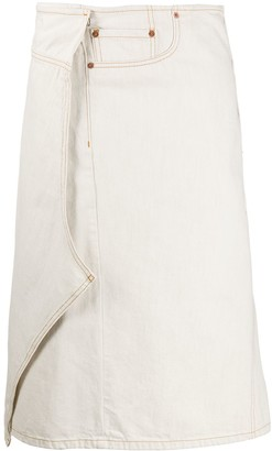 Maison Margiela Asymmetric Wrap Denim Skirt