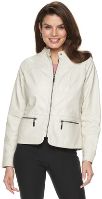 Apt. 9 Women's Faux-Leather Quilted Jacket