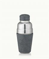 GiGi New York Cocktail Shaker Grey Shagreen Leather