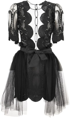 Elisabetta Franchi Celyn B. Lace Dress With Short Sleeves