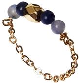 Asos Beaded Fine Chain Ring - Blue