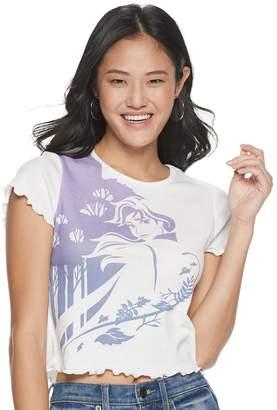 Disney Juniors' Frozen Anna Short Sleeve Crop Shirt