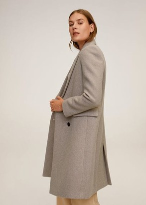 MANGO Double-breasted wool coat