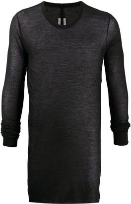 Rick Owens long-line light T-shirt