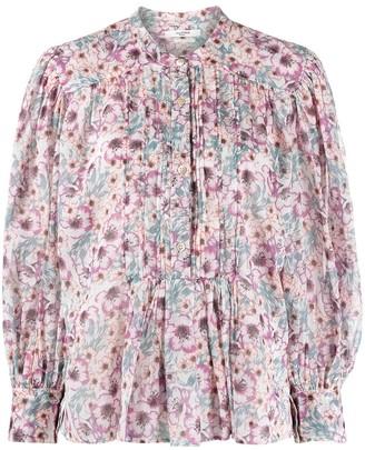 Etoile Isabel Marant Floral-Print Long-Sleeved Cotton Blouse