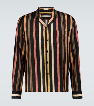 COMMAS Camp collar silk-blend shirt