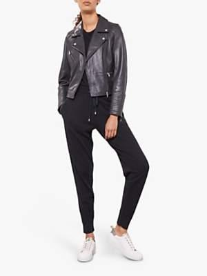 Mint Velvet Cotton Cashmere Joggers, Dark Grey