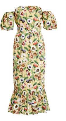 Borgo de Nor Aleila Floral-Print Cotton-Poplin Midi Dress