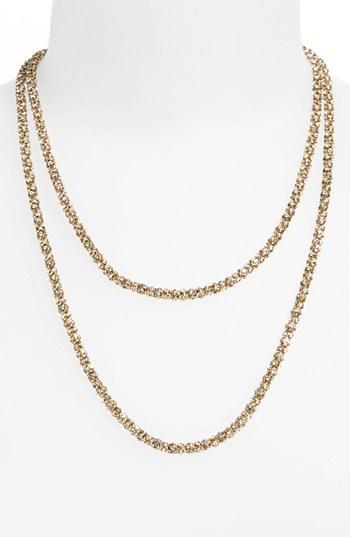 Anne Klein Pavé Long Layering Necklace
