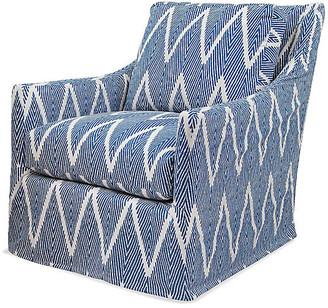 Imagine Home Oliver Swivel Glider Chair - Navy/White