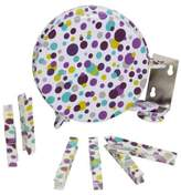 Household Essentials Retractable Single Line Dryer with 12-Clothespins in Dots Pattern