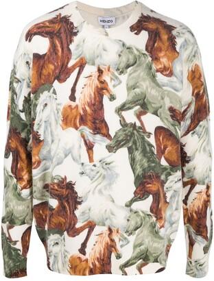 Kenzo Horse-Print Wool Jumper