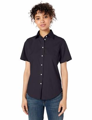 D & Jones Women's Solid Broadcloth Short-Sleeve Shirt