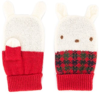 Familiar knitted bunny mittens