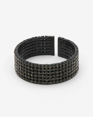 Express Thick Rhinestone Cuff Bracelet