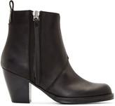 Acne Studios Black Matte Leather Pistol Boots