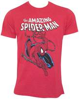 Spiderman Mens Spidey Swinging Fitted T-Shirt