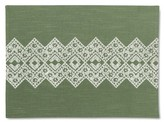 Threshold Embroidery Placemat Green