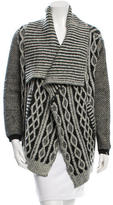Yigal Azrouel Wool Open Front Cardigan