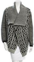 Yigal Azrouel Wool Open Front Cardigan