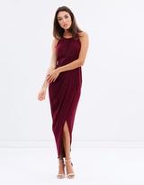 Shona Joy Core High-Neck Ruched Dress