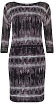 Phase Eight Juliette Print Tunic Dress, Black/Grey