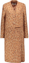 Stella McCartney Susie leopard-print wool-blend coat