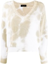 Roberto Collina tie-dye cropped jumper
